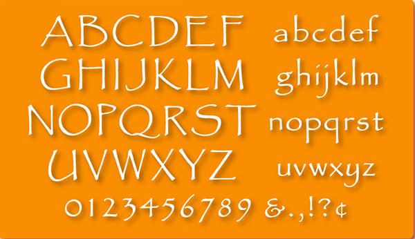 alphabet stencils set 01