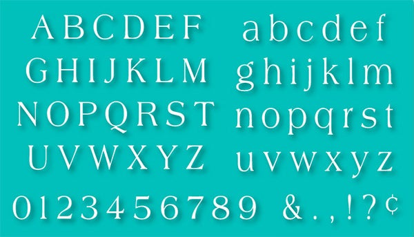 alphabet stencils set 07