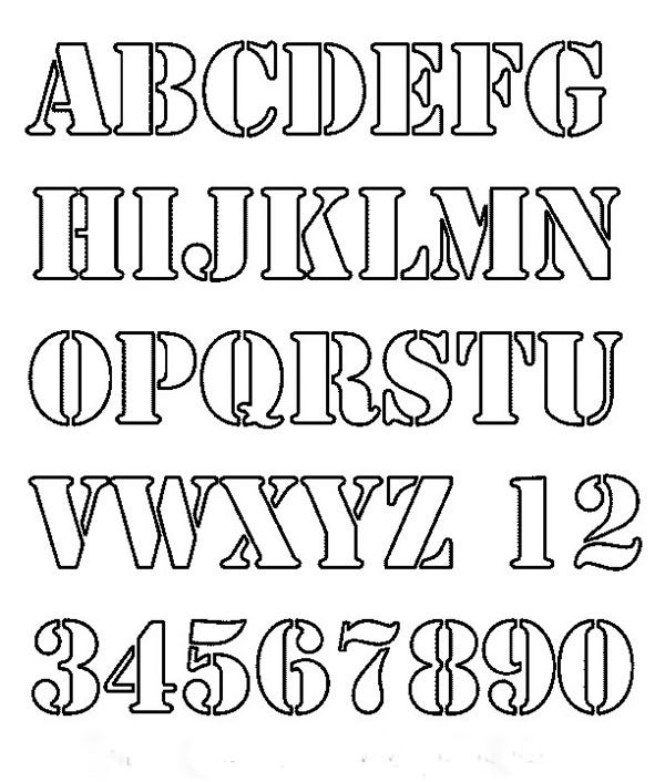 Printable Stencils Letters Grude Interpretomics Co