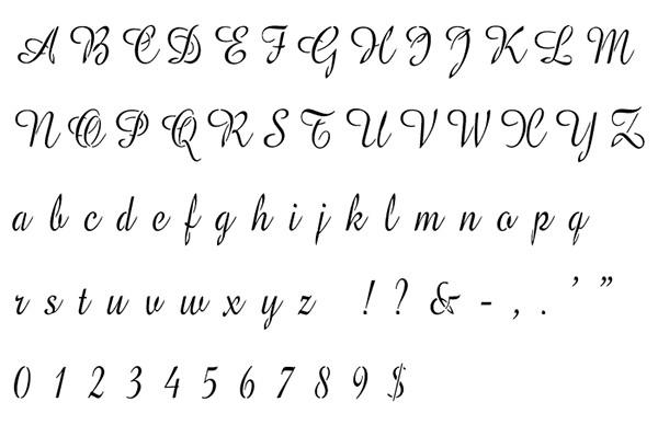amazone alphabet stencil
