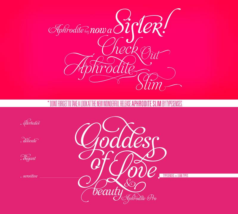 aphrodite pro wedding font
