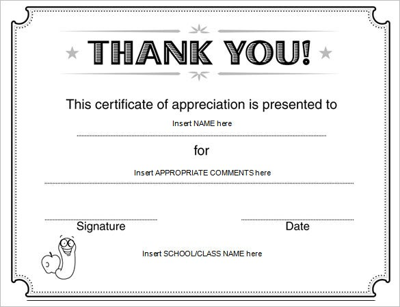 Word certificate template 51 free download samples examples appreciation certificate template for student yadclub