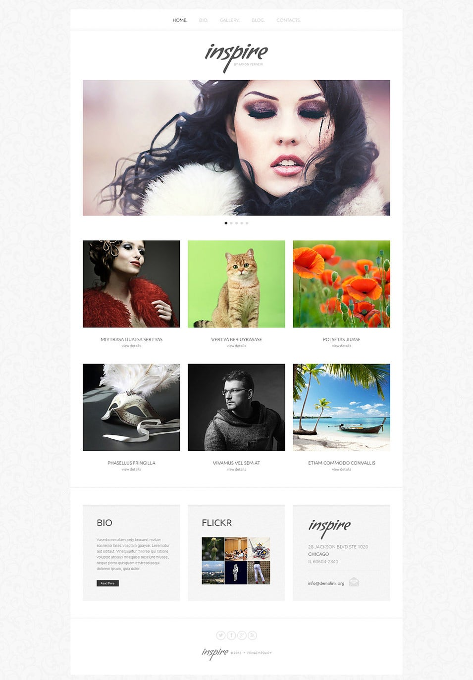 Artist Portfolio WordPress Theme