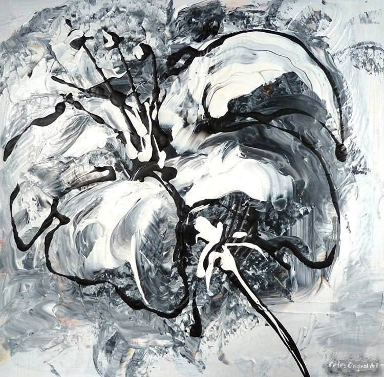 bw abstract art painting