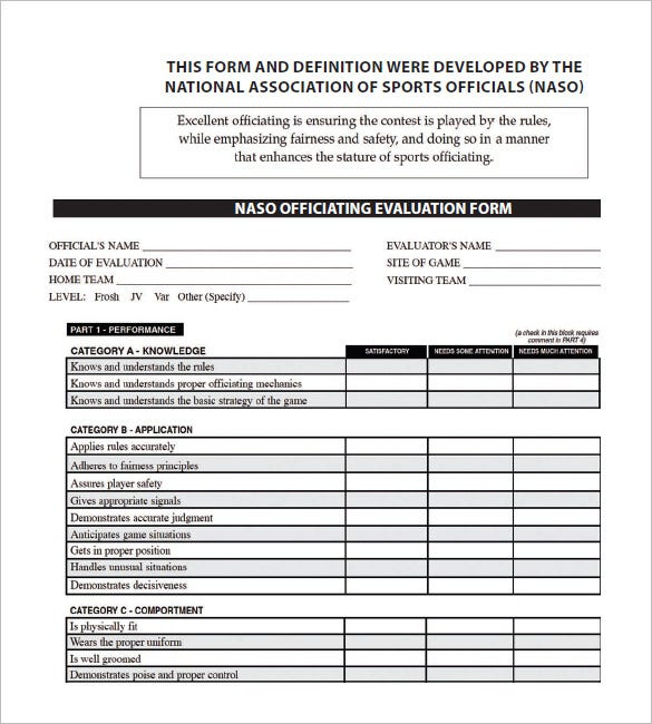Evaluation Form Vendor Performance Evaluation Form Performance