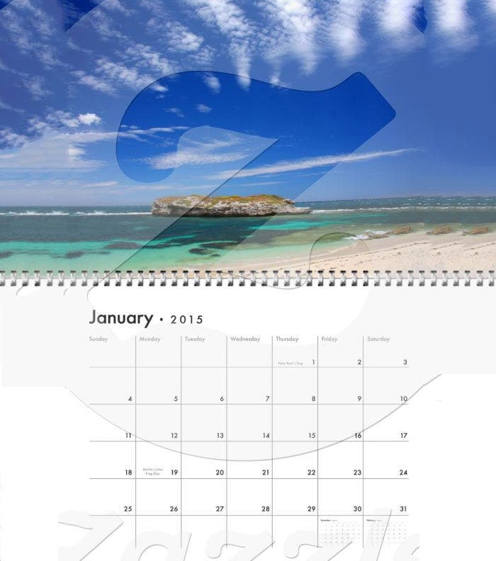 beautiful beach scene photographs 2015 calendar