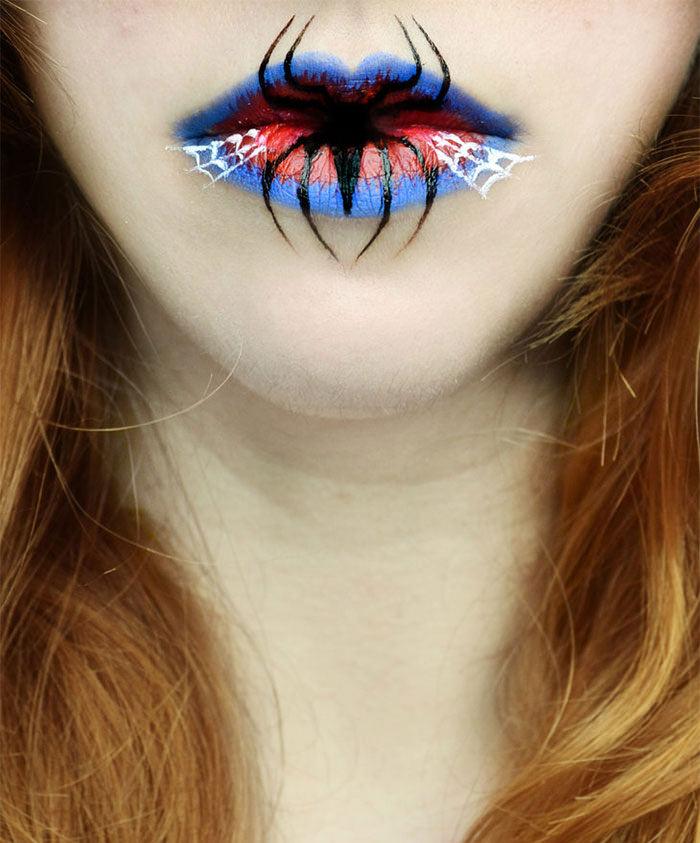 beautiful creepy hallowwen lip