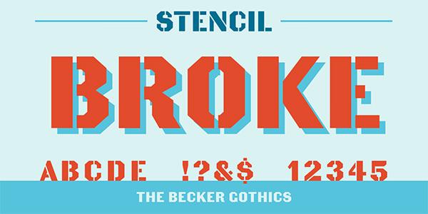 becker gothics stencil
