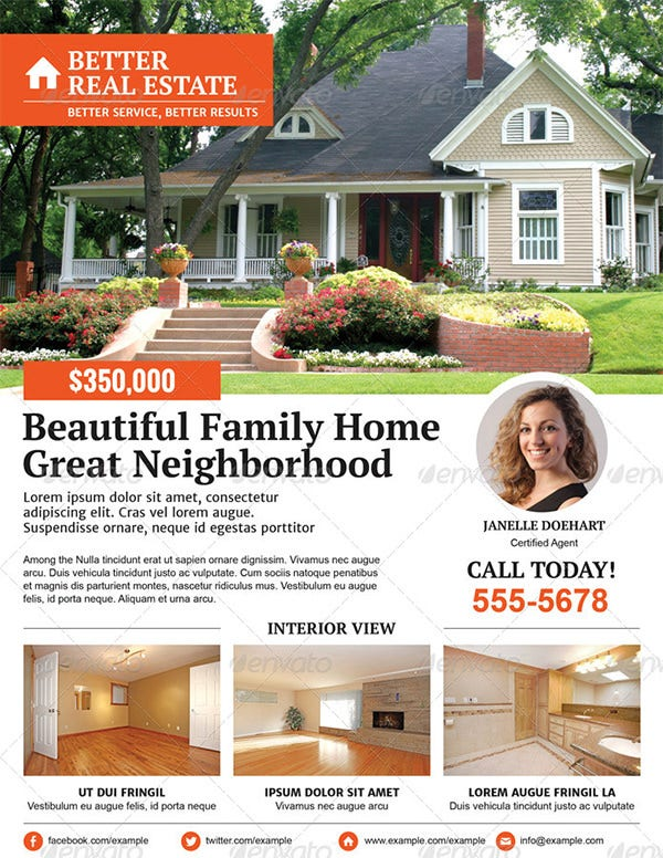 better real estate flyer template 2