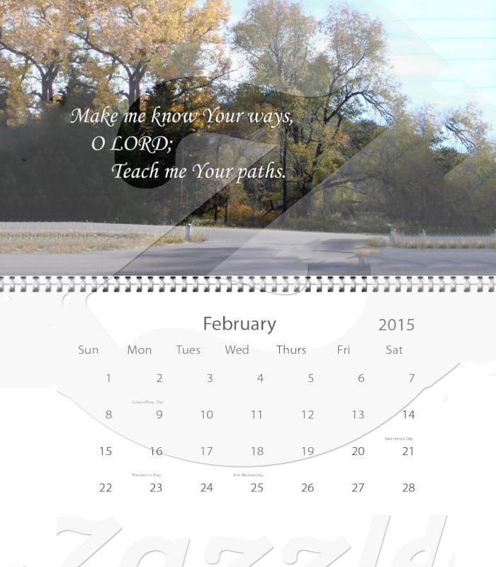 bible verse photo calendar 2015