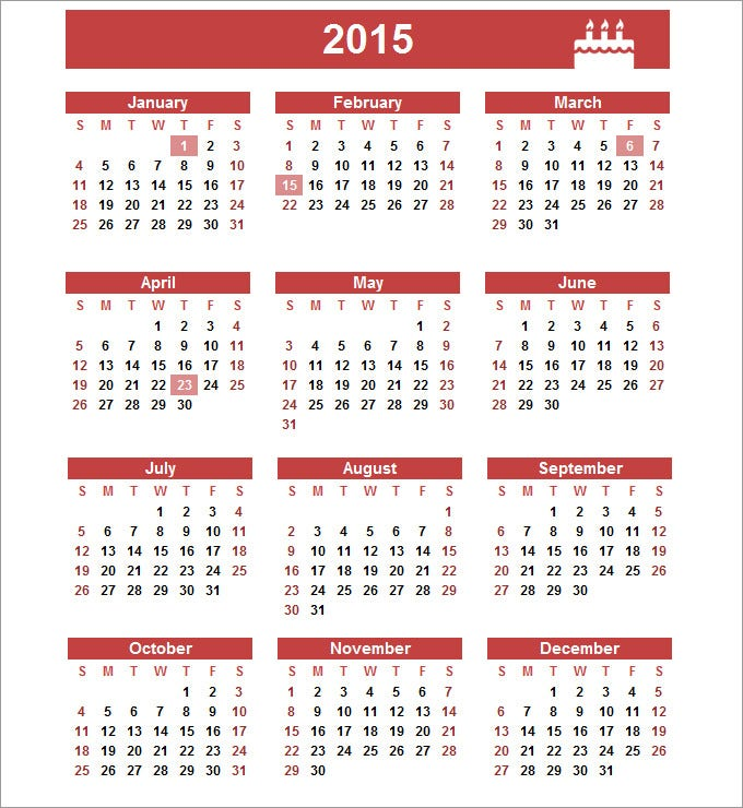 free birthday calendar template free printable birthday calendar
