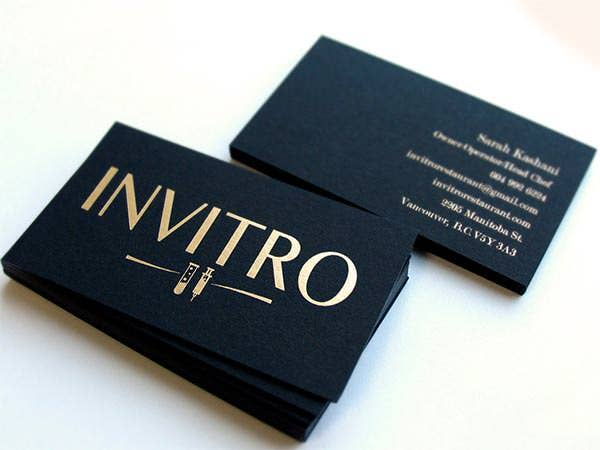black business cards 2