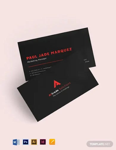 black red corporate business card template