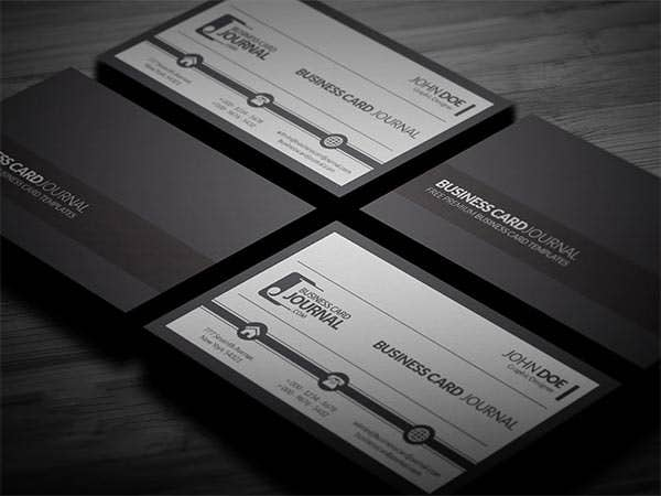 61 corporate business card templates free premium templates black and white corporate business card template accmission Image collections