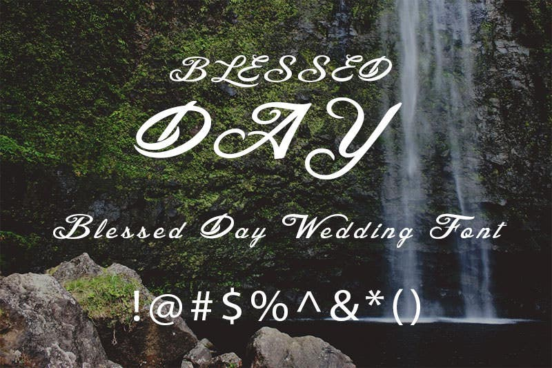 blessed day wedding font