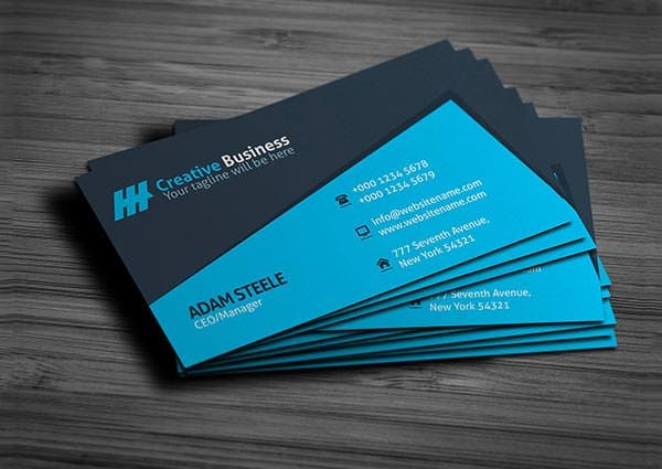 53 best premium business card template designs free premium blue creative business card template download wajeb Image collections