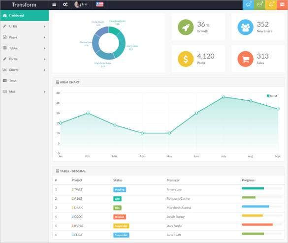 bootstrap multi layout admin app template1