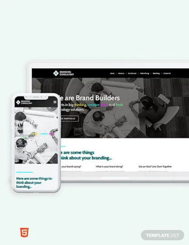 branding consultant bootstrap landing page template