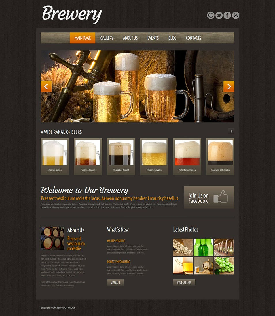 Brewery WordPress Theme