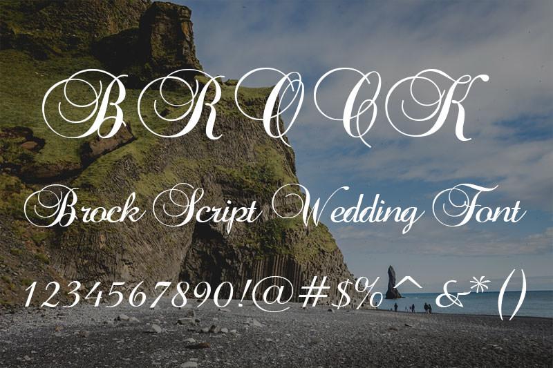 brock script wedding font