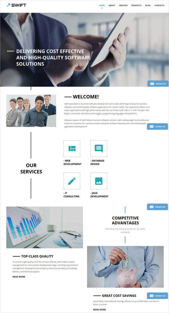 business bootstrap responsive website template