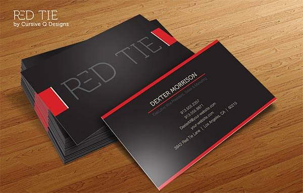 68 best psd business card templates free premium templates red tie business card template fbccfo Gallery