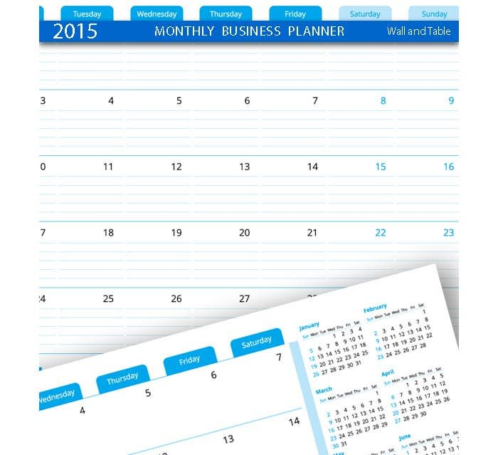 business planner monthly template 2015