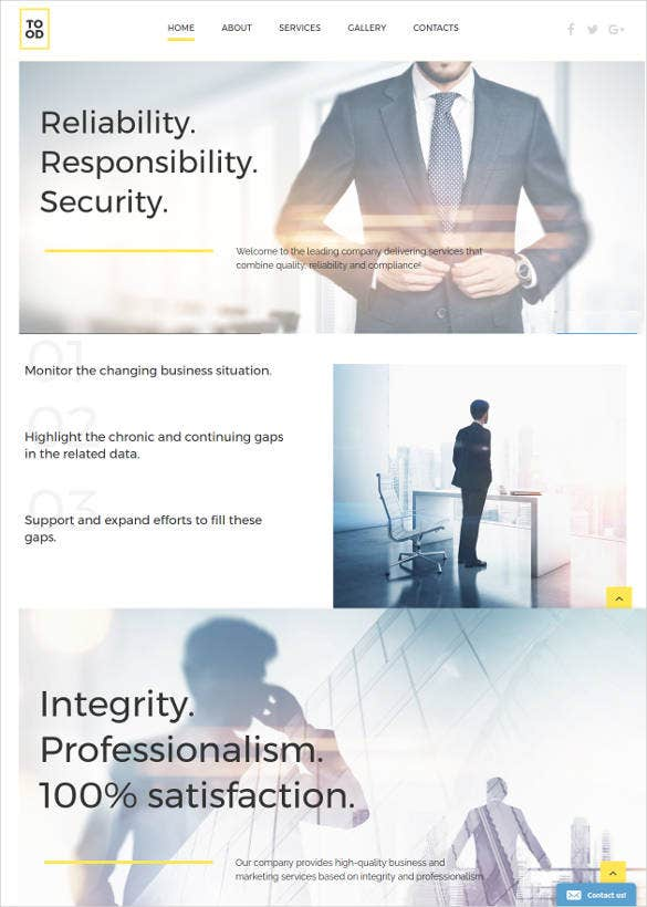 business responsive html5 website template