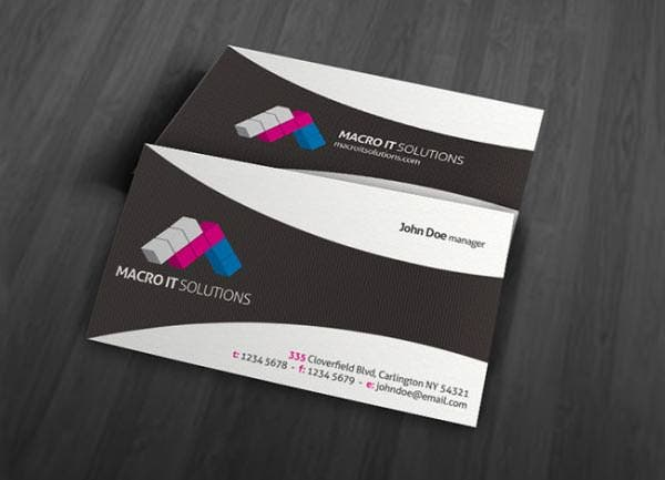 creative unique corporate business card template