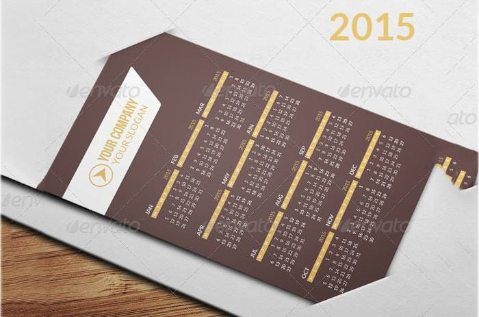 24 best business calendar templates 2015 samples free for Business card calendar