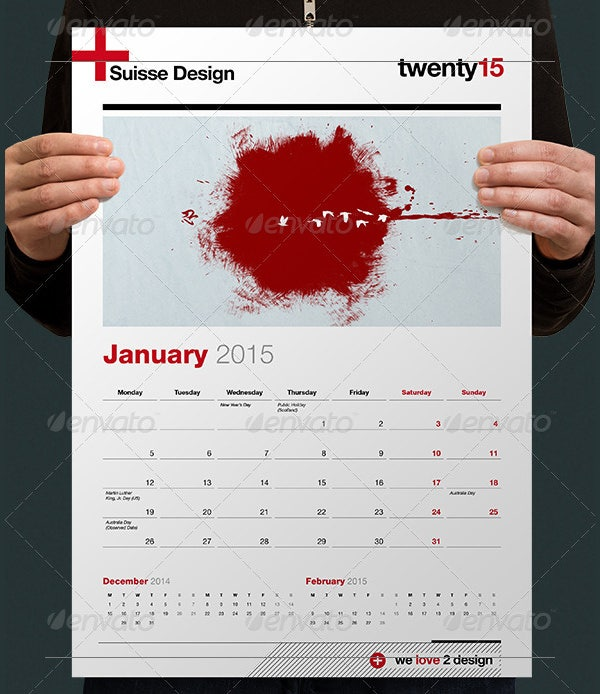 calendars 2014 2015 swiss design
