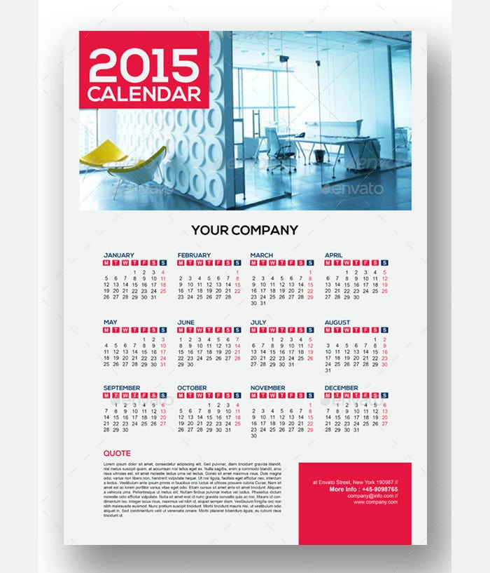 40 Sample 2015 Calendar Templates Designs Free – Sample Calendar