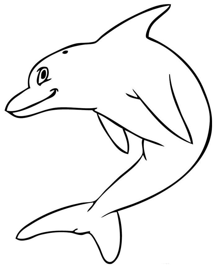cartoon dolphin template
