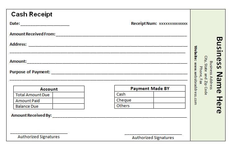 8 Free Payment Receipt Templates & Samples | Free & Premium Templates