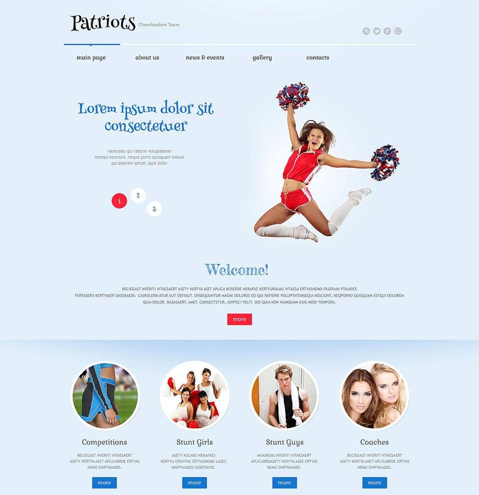 cheerleading responsive wordpress theme1