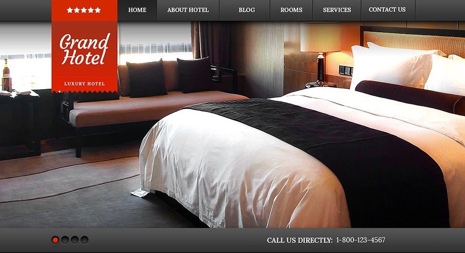 cherry hotels wordpress theme