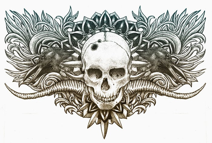 chest piece tattoo design