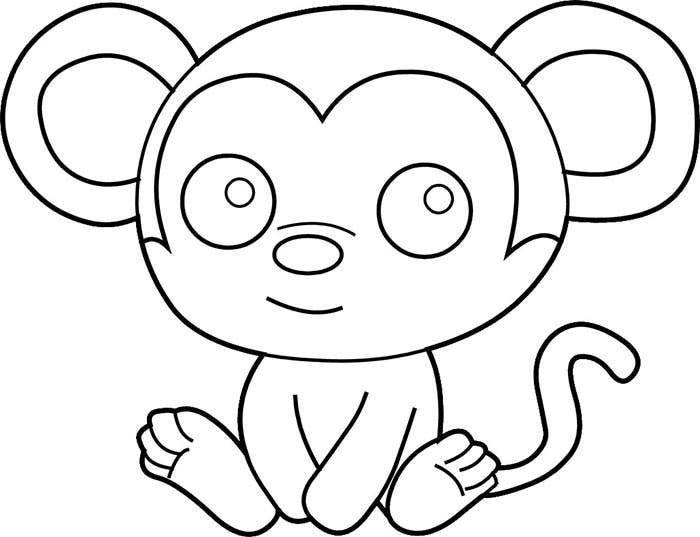 chimpanzee outline