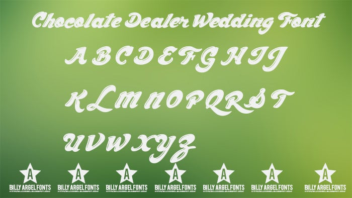 chocolate dealer wedding font