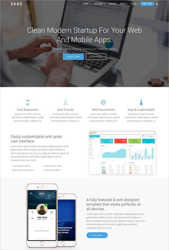 clean-bootstrap-mobile-app-template