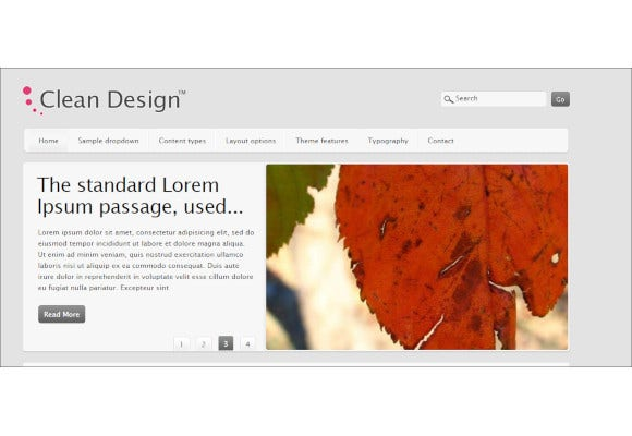clean and elegant drupal theme