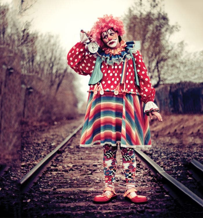 clown timeless halloween photography