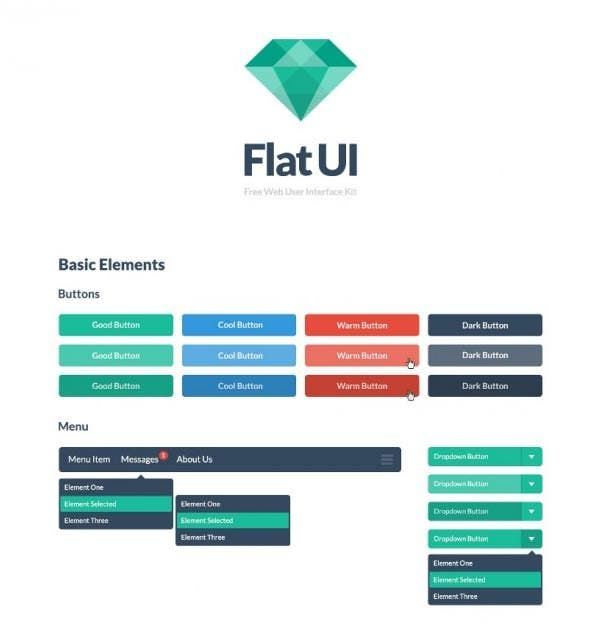 colorful jquery ui buttons kit psd