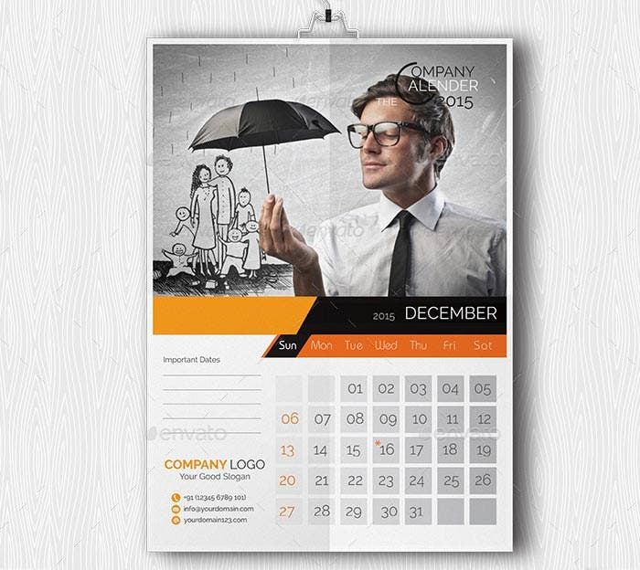 24 Best Business Calendar Templates 2015 & Samples | Free