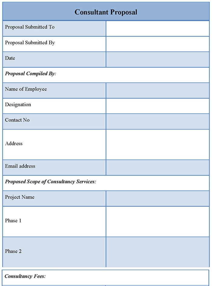 consultancy proposal template