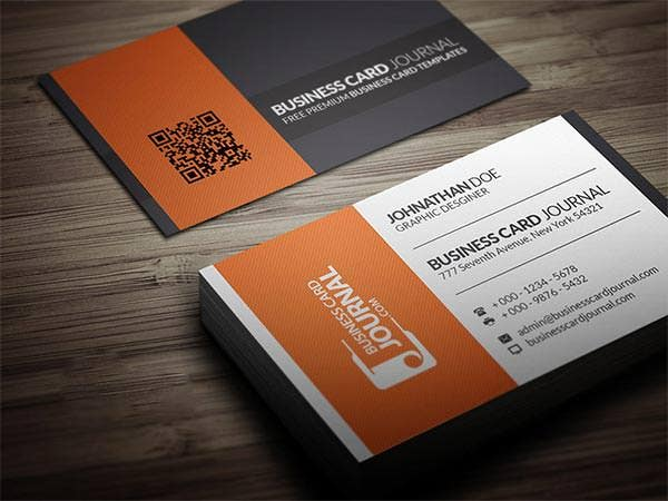 61 corporate business card templates free premium templates contrasting modern corporate business card template friedricerecipe Gallery