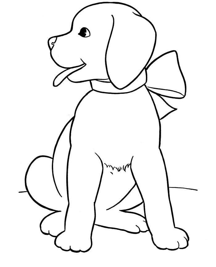 cool dog coloring page - Drawing And Colouring Pictures For Kids