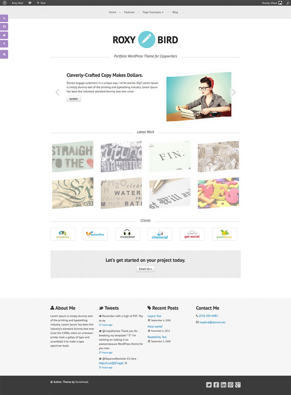 Copywriter Portfolio WordPress Theme