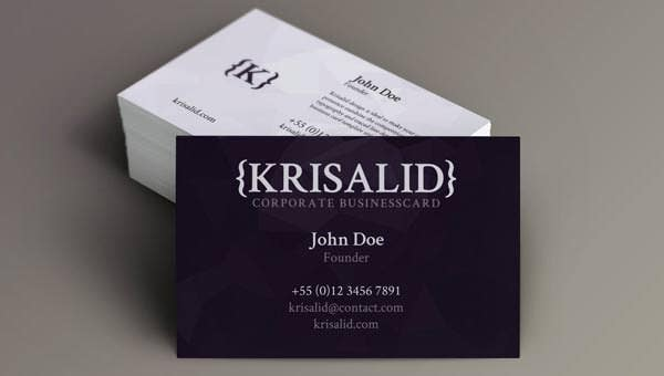 corporate business card20