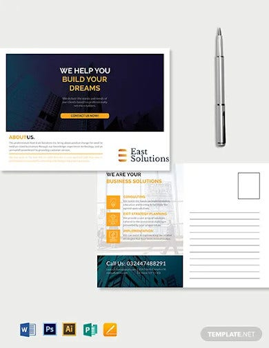 corporate business postcard template1
